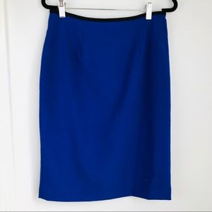 Calvin Klein | Blue Black Pencil Skirt